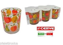 bicchieri cerve set di 6 bicchieri fruttella 22 cl bicchieri cerve ebay