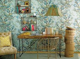 Eclectic Home Office Ideas In Cheerful Blue - Fashion home interiors