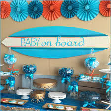 Baby Shower Centerpieces For A Boy by Surfer Boy Baby On Board Baby Shower Party Ideas Surfer Baby