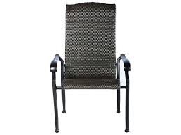 Black Wicker Furniture Astonishing High Black Wicker Dining Chair Plus Black Iron Armrest