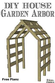 remodelaholic diy house garden arbor
