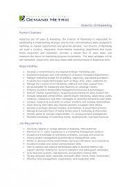 examples of job descriptions for resumes cover letter job description marketing assistant insurance cover letter resume for marketing job best resumes example digital manager resume description director ofjob description