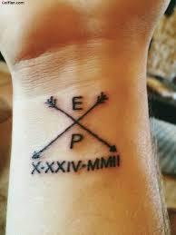 cross angel wing tattoos 49 initials wrist tattoos