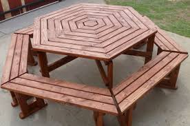 Octagon Patio Table Plans Building Octagon Picnic Table Boundless Table Ideas