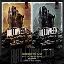 13 blood chilling halloween flyer and poster templates