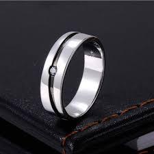 custom name engraved sterling mens wedding ring
