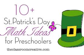 st patrick u0027s day math activities for preschool