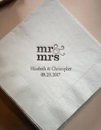 printed wedding napkins i gold foil personalized foil imprinted wedding napkins