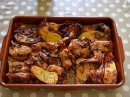 plat cuisiné au four lapin rôti au four qui cuit tout seul recette lapin roti tout