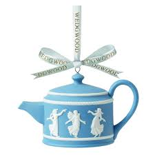 wedgwood hours teapot ornament home kitchen