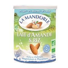 poudre de riz cuisine lait d amande et riz bio en poudre 400g la mandorle acheter sur