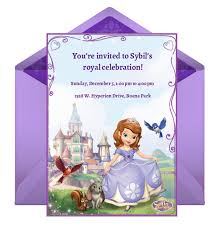 sofia party invitation disney family