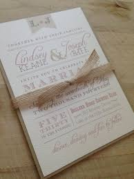 wedding invitation suite sample rustic and vintage simple