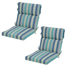 Blue Outdoor Cushions Fall River Outdoor Cushions Patio Furniture The Home Depot