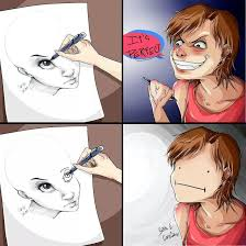 Meme Drawings - the struggle of drawing the other eye meme by eeveestar memedroid
