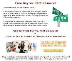 socal buy vs rent
