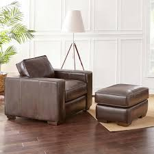 Leather Chair With Ottoman Aston Top Grain Leather Chair And Ottoman