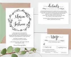 wedding invitations printable printable wedding invitation etsy