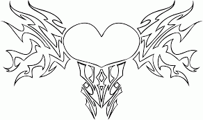 hearts and roses coloring pages for heart for teenagers eson me