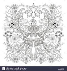 majestic eagle coloring page open wings eagle with floral