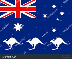 Aussie Flag Australia Flag Kangaroos Stock Vector 338401172 Shutterstock