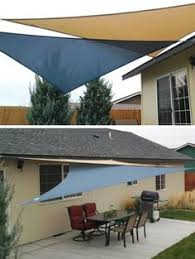 Awning Sails 16 5 U0027 Triangle Sun Shade Sail Canopy Sand For The Home