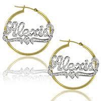 Gold Name Earrings Custom Name Earrings Apples Of Gold