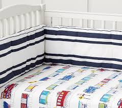 Flannel Crib Bedding Flannel Crib Fitted Sheet Pottery Barn