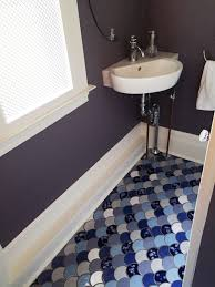The Powder Room Salon How To Tile A Small Space View Our Blog To See Other Ideas For