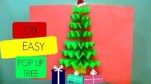 diy 3d pop up tree card cards easy and fast