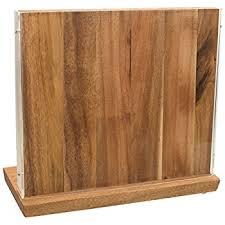 block wood boker 30402 wood magnetic knife block makassar knife