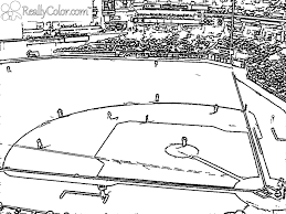 baseball diamond coloring page coloring page