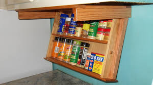 wall mounted spice rack cabinet under cabinet spice rack yep need this too organization help