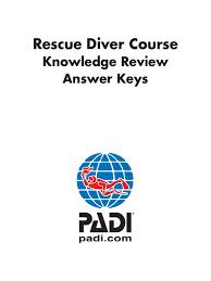 padi rescue diver kr questions scuba diving underwater diving