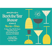 stock the bar party stock the bar shower invitations
