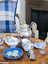 setting a country french hanukkah tea by the hearth