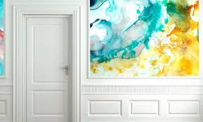 watercolor wallpaper for walls creative interior design best