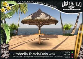 Palm Tree Patio Umbrella Second Life Marketplace Tiki Tattoo Copy Umbrella Thatch