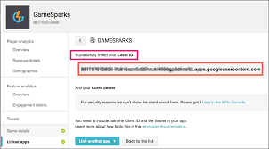 google authentication gamesparks learn