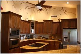 tile countertops rustic kitchen cabinet hardware lighting flooring