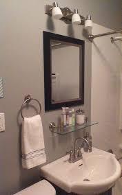 Flat Bathroom Mirror by Bathroom Mirrors With Glass Shelves Bathroom Decor Pinterest