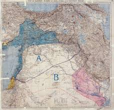 United States Map Without Names by Sykes U2013picot Agreement Wikipedia