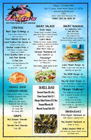 Indian Shores Florida Map by Menu U2013 Lulu U0027s Oyster Bar