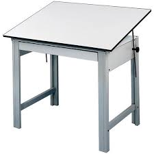 Steel Drafting Table Alvin Designmaster 4 Post Compact Drawing Table Dm48ct