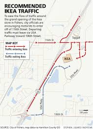 map usa parkway heavier i 69 traffic expected for ikea grand opening