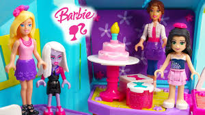 barbie birthday party time build n style lego mega bloks playset