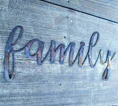metal family sign farmhouse wall decor metal words rustic wall