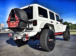 white linex jeep 2017 jeep wrangler unlimited custom lifted leather hardtop 22s