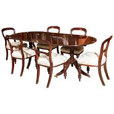 vintage regency style dining table and six antique chairs at 1stdibs vintage regency style dining table and six antique chairs 1