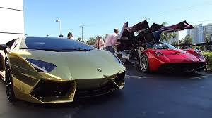 pagani huayra red metallic red pagani huayra and golden aventador youtube